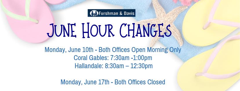 June 2019 Hour Changes