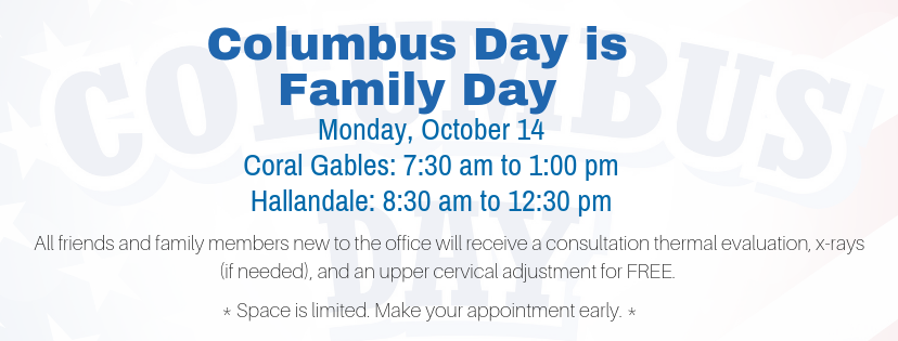 Coral Gables Chiropractor Hallandale Chiropractor Columbus Day