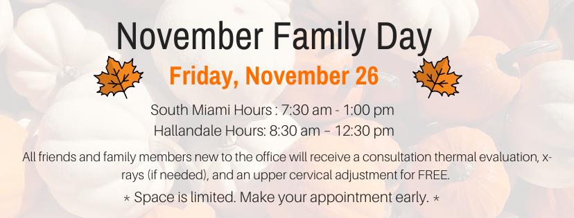 2021 November Family Day Events